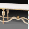 Antiqued Ivory Bench