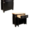 Kitchen Island Distressed Black