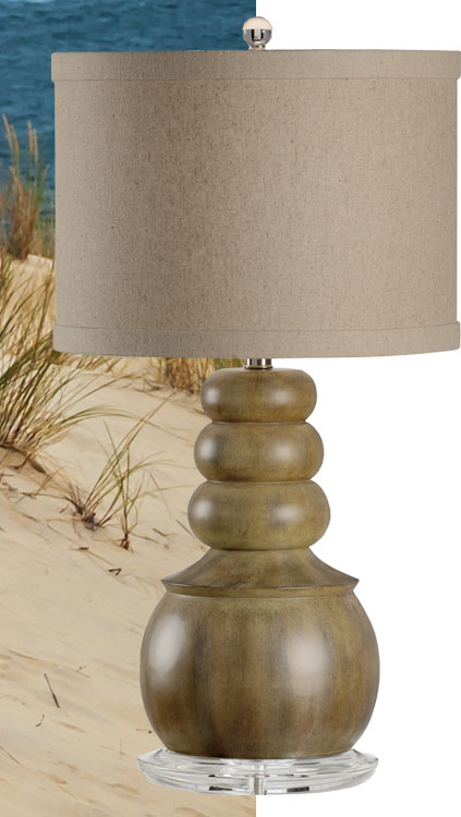 Inspired by sandy laguna beaches, this lamp brings the warmth of nature into the interior; available at InvitingHome.com