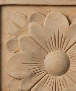 Naples Wood Corner Block Rosette