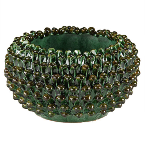 Green Round Ceramic Bowl