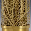 Nature Inspired Table Lamp Made Of Brass And Ceramic