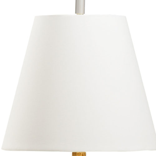 Round Off-White Linen Fabric Shade