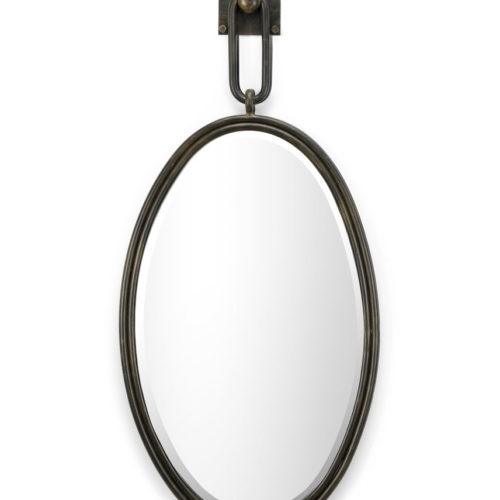 Oval Wrought Iron Mirror