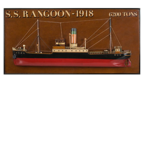 Tramp Steamer 'Rangoon' Ship Model