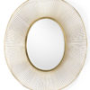 Oval Gold Plated Mirror