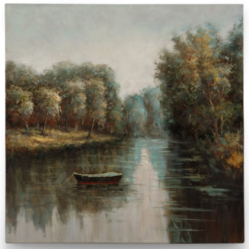 Quiet River oil painting on canvas