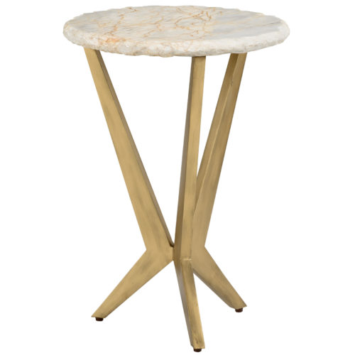 White Stone Accent Table