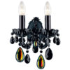 Black Cut Crystal Sconce