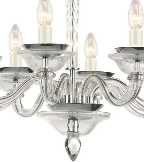 Smooth Crystal Glass Chandelier