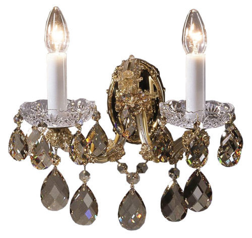 Honey and Gold Crystal Sconce