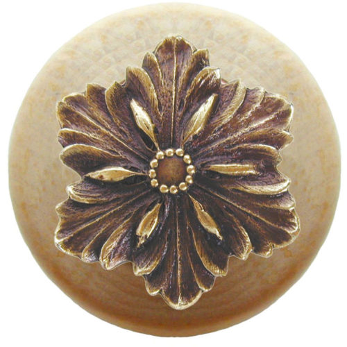 Opulent-Flower Natural Wood Knobs