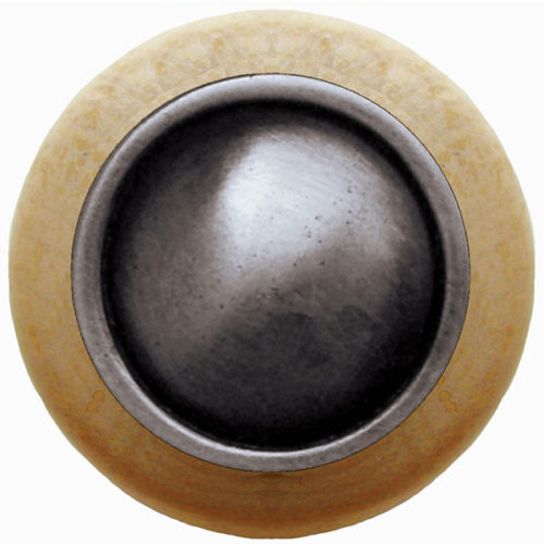 Plain-Dome Natural Wood Knobs