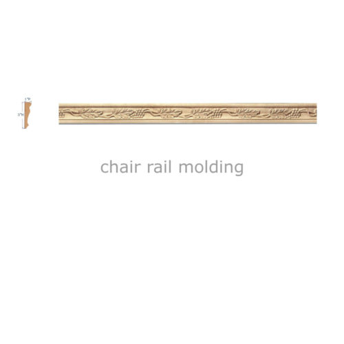 carved wood chair rail molding