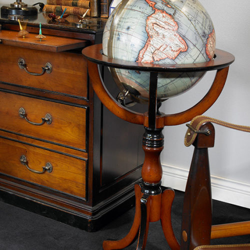 Library Globe With Floor Stand