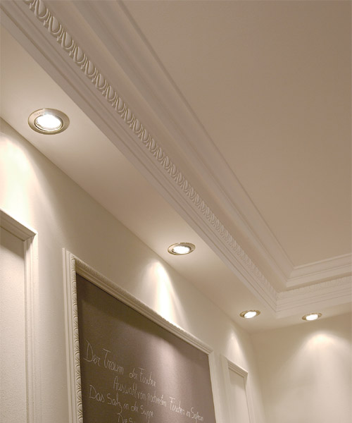 crown molding with down lighting