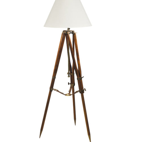 Tripod Floor Lamp (white shade)