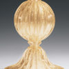 Clear And Gold Venetian Glass Lamp