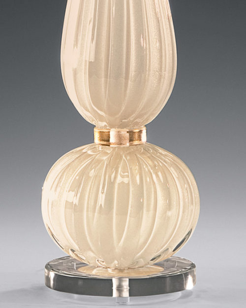 White And Gold Venetian Glass Lamp