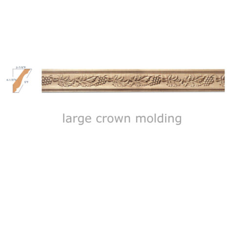 carved wood crown molding