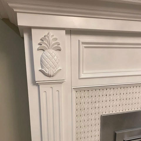 Pineapple Wood Carving Installation