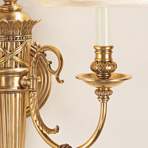 Reed And Ribbon Sconce Detailed Image