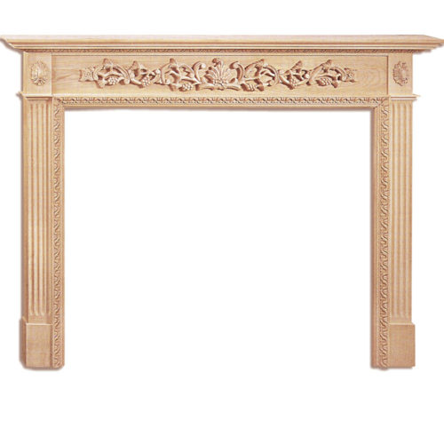 Design of Marietta fireplace mantels futures deeply carved fluting rising from the base-blocks. Four acanthus leaf corbels supporting elaborate shelf of the fireplace mantel