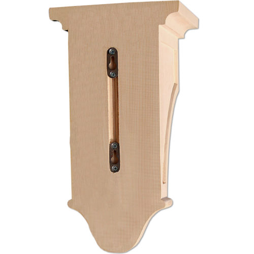 Mission wood corbels design features with double recessed panels and cercal design on the front