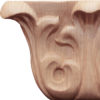 Marietta hand carved wood capitals are carved in a deep relief with rising acanthus leaf. These capitals are carved by skilled craftsman from premium selected hardwoods