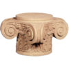 Bangor carved wood capitals are carved in a deep relief
