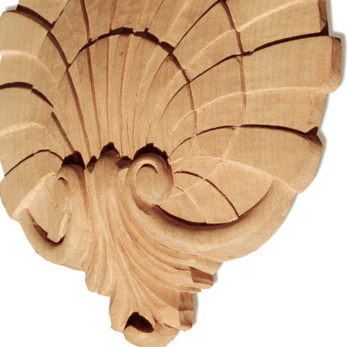 Hampton shell wood carving is hand carved by skilled craftsman from premium selected hardwood