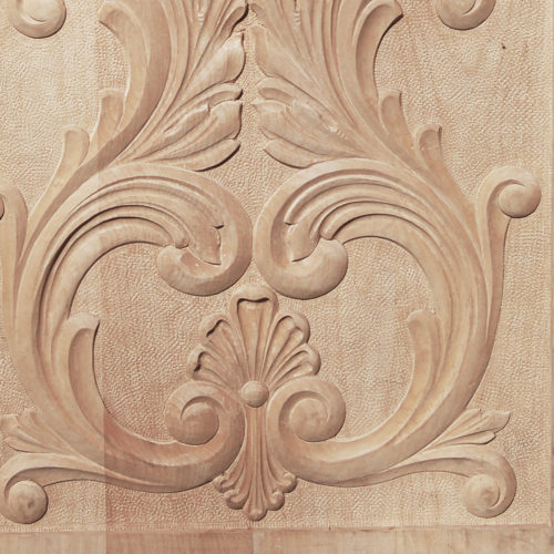 wood panels are hand carved from premium selected hardwood