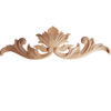 Wood carving features carved in deep relief maple leaf motif with elegant leaf scrolls