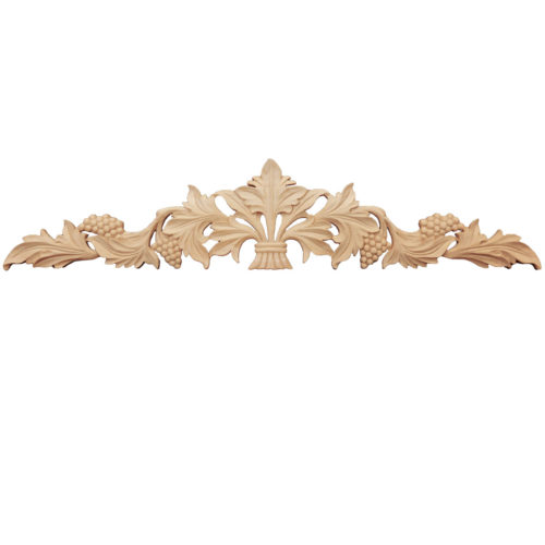This beautiful wood carving is one of the favorites for applications on custom furniture, kitchen cabinets as well as for door's overheads