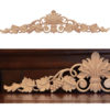 The spiral scrolling in a grape motif wood carving is the most generative figure in the history of carved wood ornaments