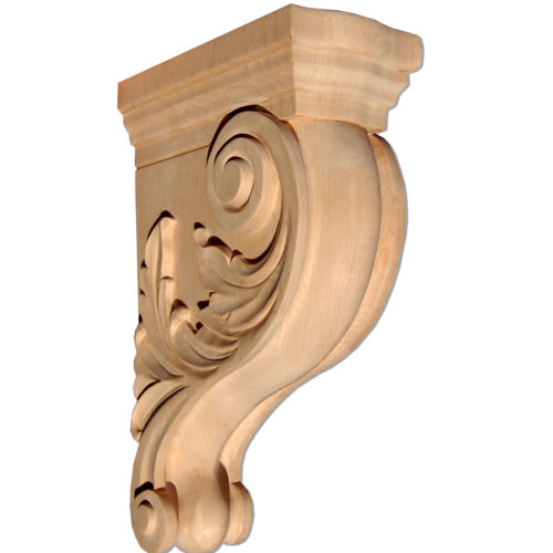 This hardwood bracket provides an additional support for shelves, kitchen counters, bars, fireplace mantel shelves. Jacksonville wood brackets carved in classic design.
