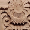 Yale wood corbel has a beautiful carved in a deep relief stylized flowers and leaf motif. On the sides maple corbel has a classic acanthus leaf design