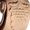 Modesto hardwood corbels have a beautiful carved in a deep relief design featuring grape cluster and leaf motif