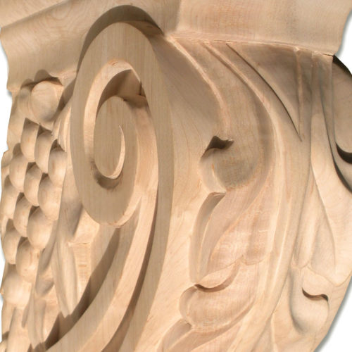 Ventura bracket is hand-carved from premium selected maple hardwood and is triple-sanded