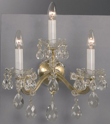 Maria Theresa Crystal Sconces