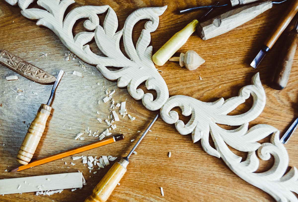 Hand-crafted by masters, and inspired by nature, these wood carvings are perfect for interior design and craft projects