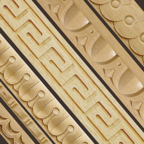 carved wood panel molding