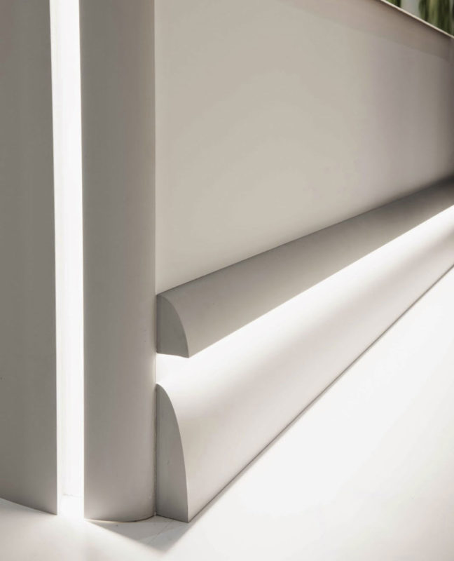 baseboard with indirect lighting; cool interior design ideas; creative interiors inspiration