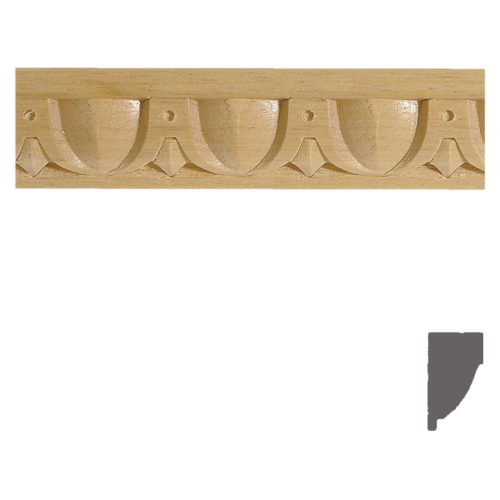 Quality carved wood panel molding