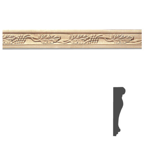 Quality carved wood chair rail molding