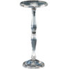 Round solid crystal pedestal table
