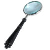 Classic accessory for any coffee table or end table this magnifying glass is perfect for proverbial fine print and thumbnail-sized road maps.
