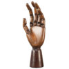 In our time antique art models have always been in demand by cognoscenti for their esoteric presence. Hand model is sculpted in wood, elaborately jointed and movable.