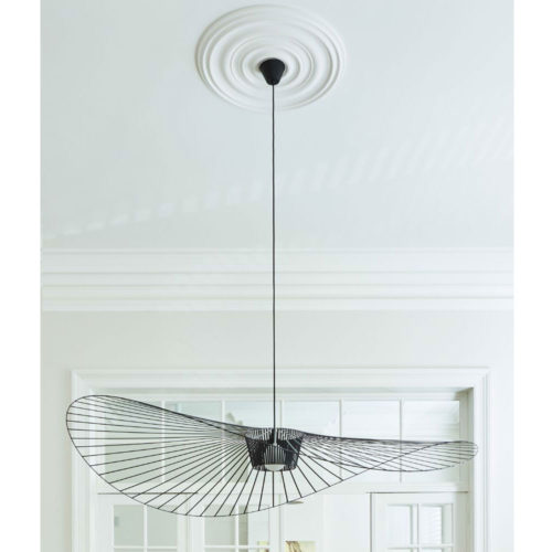 ceiling medallion with contemporary lighting fixture; ceiling medallions ideas; contemporary lighting inspiration