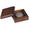 Executive compass is seemingly destined for desk bound travelers given the luxurious wood box.